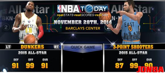 NBA2K14 UBR复古赛季大补包更新V25 14/15赛季名单更新到12.8日